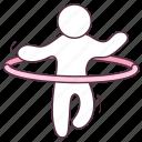 dancing ring, houla, hula dancer, hula hoop, hula ring, toy hoop icon