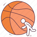 ball, basketball, field ball, game, outdoor games, sports equipment icon