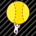 cricket ball, football, soccer, sports accessory, sports equipment icon