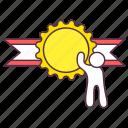 badge, champion badge, flower badge, olympics badge, ribbon badge icon