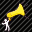 advertisement, announcement, bullhorn, loudspeaker, media promotion, megaphone icon