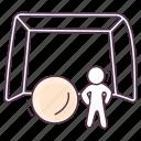 football, football field, football net, goal net, goalpost, soccer net icon