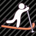 ski gear, skiing equipment, snowboard equipment, sports accessory, sports instrument icon