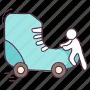roller boot, roller skates, skate boot, skates shoes, skating, sports shoes icon