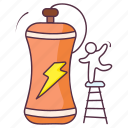 energy bottle, energy drink, energy potion, fitness drink, power drink, sports bottle icon
