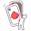 card game, gambler, playing cards, poker cards, quiz game icon