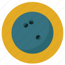 activities, athletic, ball, bowling, colored, colorful, hit, round, sport, sports, target, throw icon
