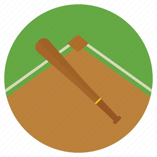 activities, athletic, ball, base, baseball, bat, catcher, colored, colorful, corner, goal, pitch, round, sports icon