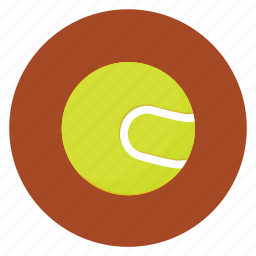 activities, athletic, ball, colored, colorful, court, match, play, round, sport, sports, tennis icon