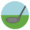 activities, athletic, club, clubs, colored, colorful, competition, court, golf, precision, round, shot, sports, stick icon