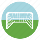 activities, athletic, ball, colored, colorful, court, fit, foot, football, goal, keeper, round, score, sport, sports icon