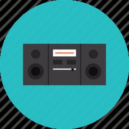 boombox, hifi, music, player, radio, speaker, stereo, system icon