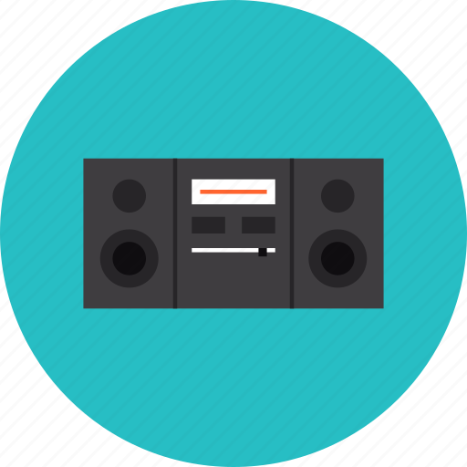 boombox, hifi, music, player, radio, speaker, stereo, system icon