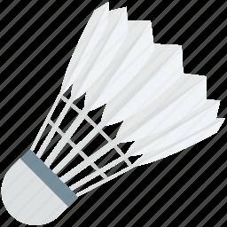 badminton, badminton birdie, feather shuttlecock, shuttlecock, sports icon