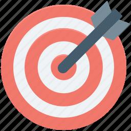 aim, bullseye, dart, dartboard, target icon