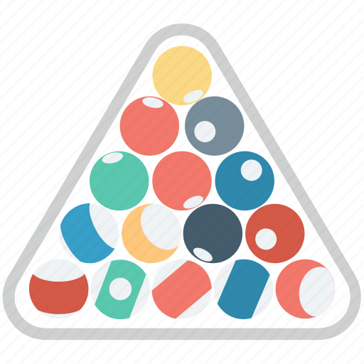 balls racked, billiard, billiard set, pool balls, snooker balls, snooker rack icon