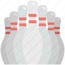 bowling pins, hitting pins, bowling, alley pins, sports