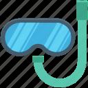 dive mask, scuba mask, snorkel mask, snorkel tube, snorkeling icon