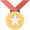 star medal, medal, achievement, position medal, reward