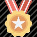 star medal, medal, achievement, position medal, reward