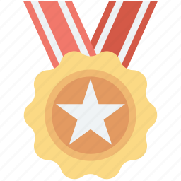 achievement, medal, position medal, reward, star medal icon