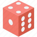 casino, dice, dice cube, gambling, luck game