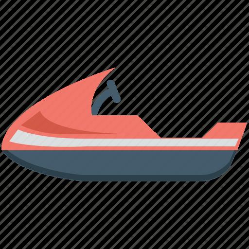 jet boat, motorboat, powerboat, water boat, water motorbike icon