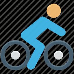 bicycle, bike, cycle, cycle race, cyclist icon