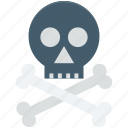 bones, danger, skull, toxic, warning