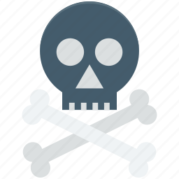 bones, danger, skull, toxic, warning icon