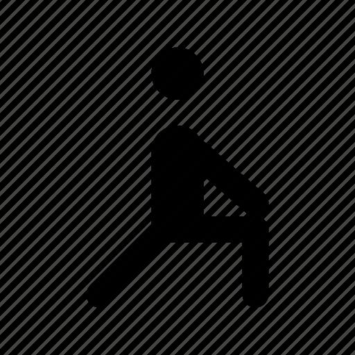 athlete, exercise, man exercising, stretching, warm up icon