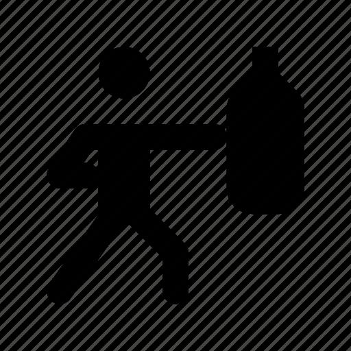 boxer, boxer punching, boxing, boxing bag, speed-bag icon