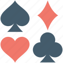 club card, diamond card, heart card, spade card, suit cards icon