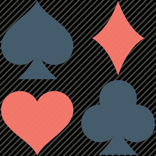 club card, diamond card, heart card, spade card, suit cards icon
