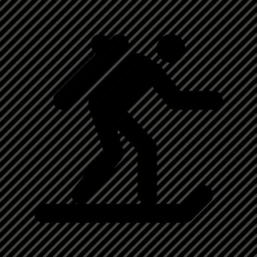 skater, ski skating, snow skating, snow sports, winter sports icon