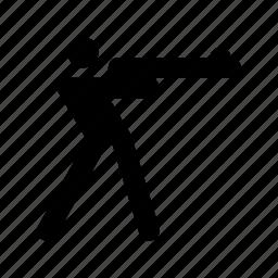 biathlon, man shooting, olympic games, shooting, winter sports icon