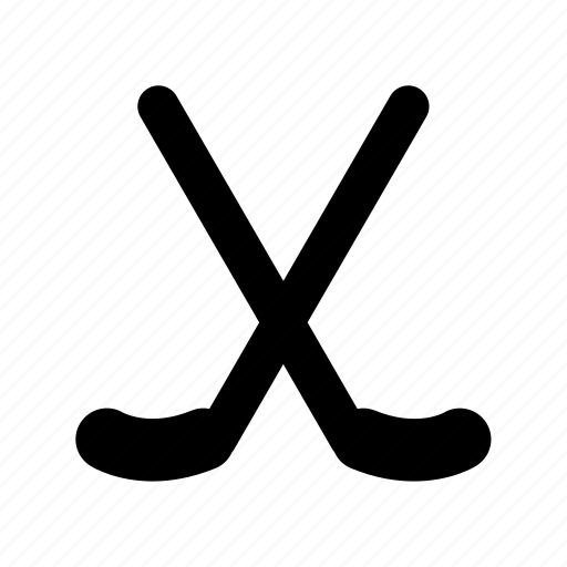 golf stick, hockey stick, ice hockey, sports icon