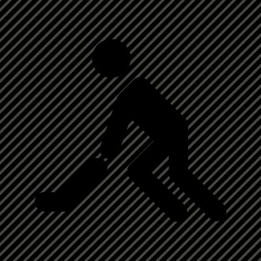 hockey player, hockey stick, player, sports person, sportsman icon