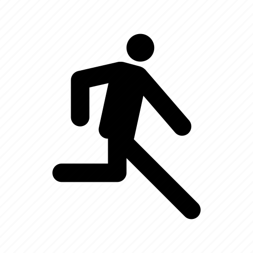 athlete, man running, marathon, racer, runner icon