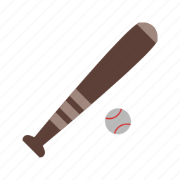 ball, base and ball, baseball, bat icon