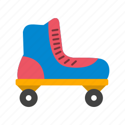 boot, roller skate, skate, skating, wheels icon