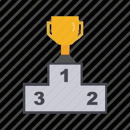 podium, sports, winner, winners icon