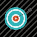archery, goal, target icon