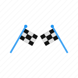 finish, flag, line icon