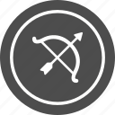 archery, arrow, bow, hunting icon
