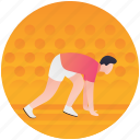 olympics sports, racing, racing track, running figure, sprinting icon