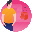 player accessories, player bag, sports accessories, sports bag, sports kit icon