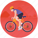 bicycle race, bicyclist, cycling, olympics game, summer olympics icon