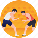 martial arts, olympics game, olympics sport, wrestlers fighting, wrestling icon