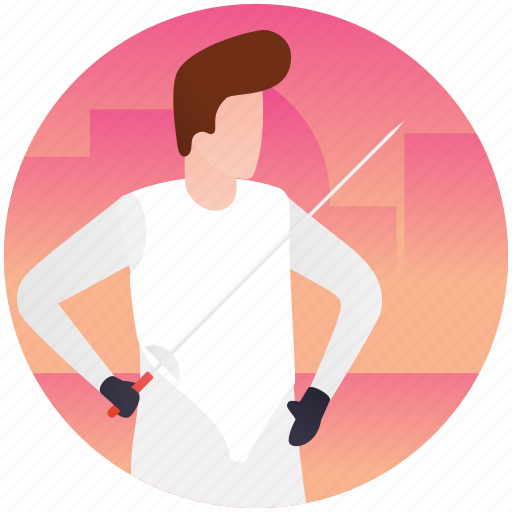 fencing, fencing sword, olympics fencing, olympics game, sword fight icon